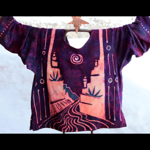 Hand painted and dyed Batik tops