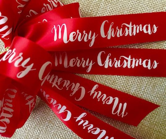 Festive Merry Christmas Ribbon