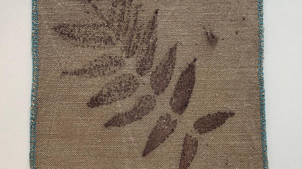 Coupon de tissu 100% lin Ecoprint - T001