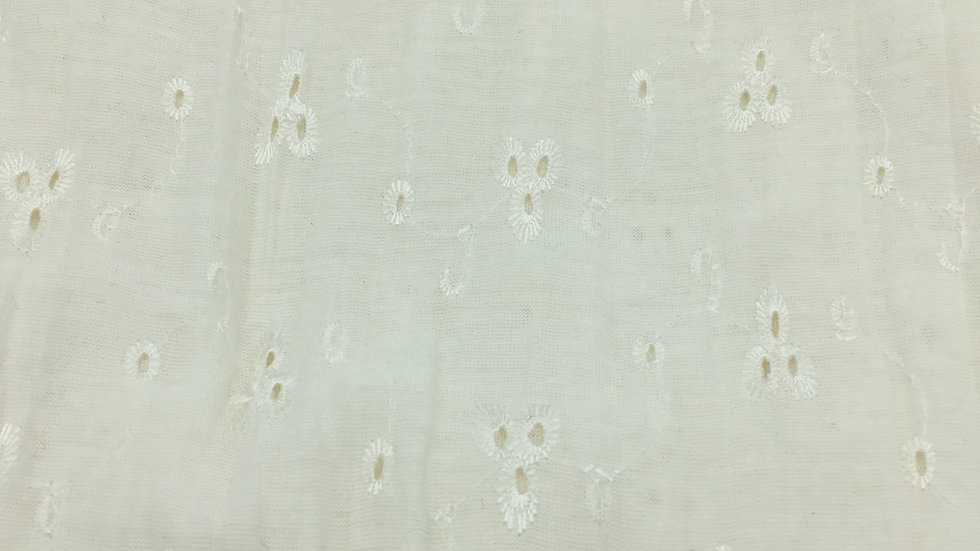 Tissu maille - coton broderie anglaise - MAI001