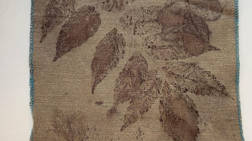 Coupon de tissu 100% lin Ecoprint - T020