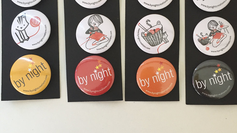Lot de 3 badges ByNight