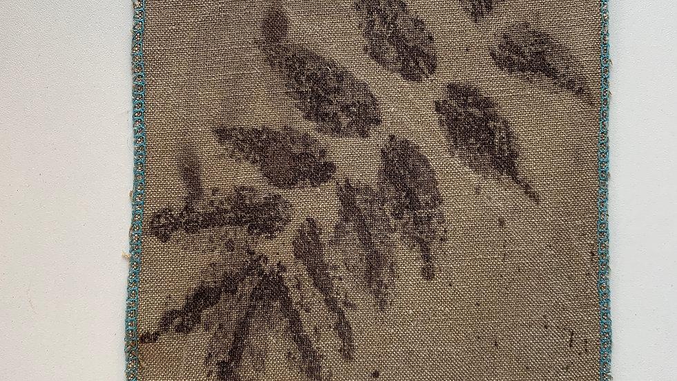 Coupon de tissu 100% lin Ecoprint - T002