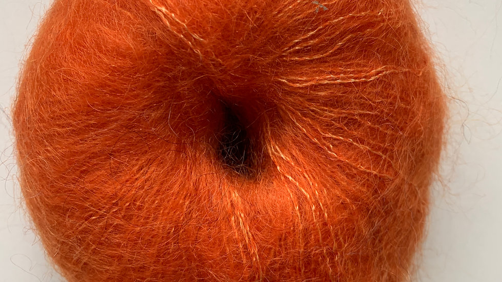 Mohair des Fermes de France - Mohair/Soie - Orange