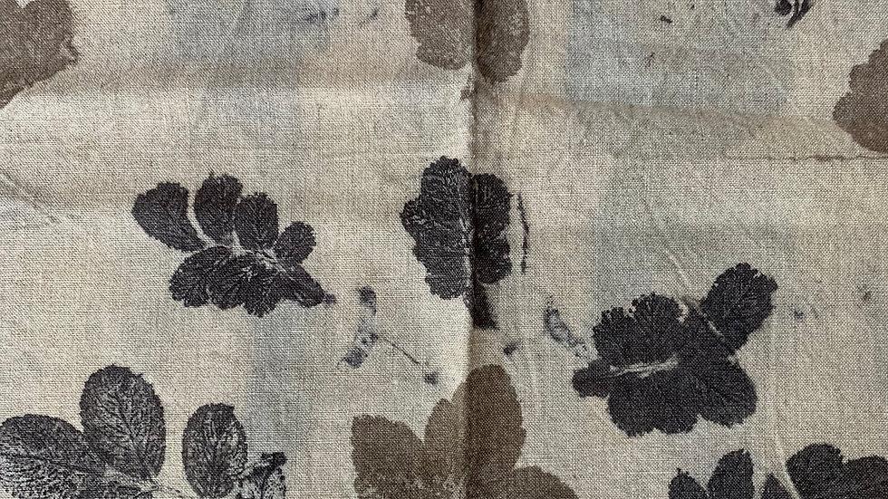 Tissu 100% lin Ecoprint - Lin001 - 1m