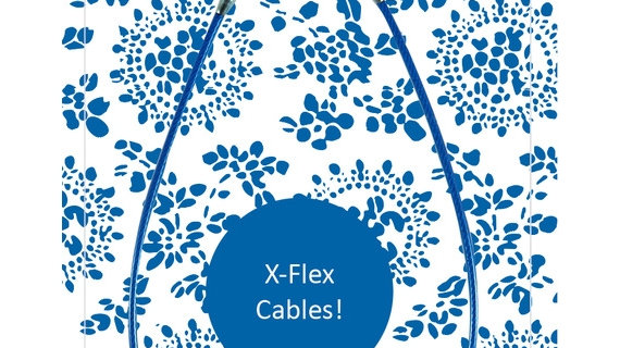 Chiaogoo - Blue cable X-Flex small