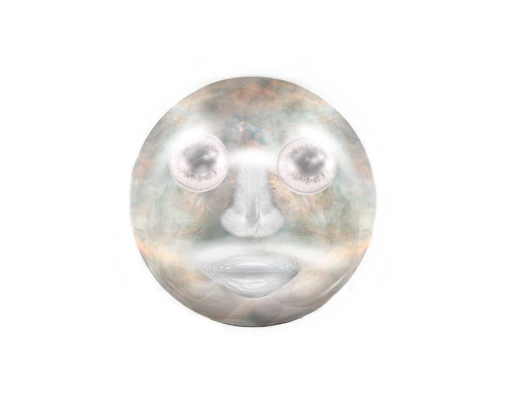 Multi-Colored Magic Orb with a face