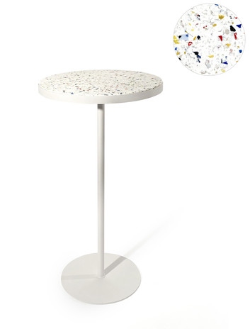 Table haute multicolore