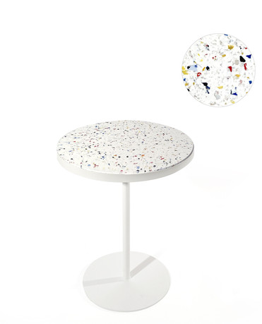 Table bistrot bouchon multicolore