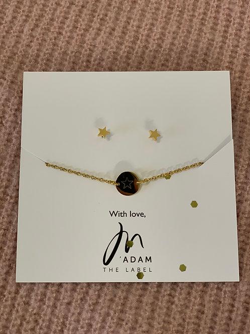 Gift Set- Armband+ Oorbellen Goud