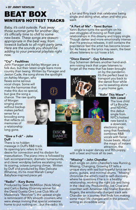 Thank you Get Out Magazine for the feature