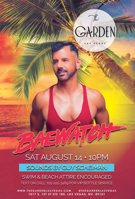 THIS WEEKEND CATCH ME AT 'THE GARDEN LAS VEGAS'