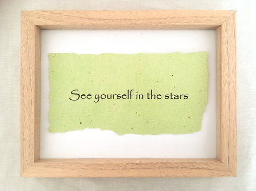 See yourself in the stars