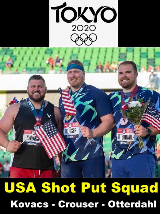 USA Mens Shot Put Squad