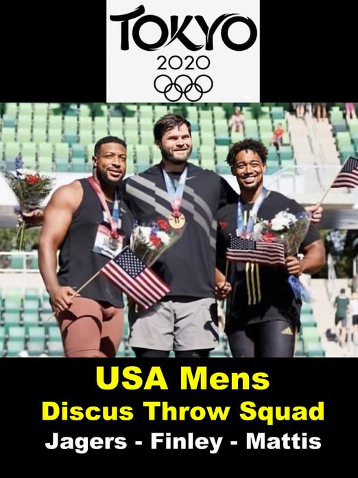 USA Men's Discus Throw Squad