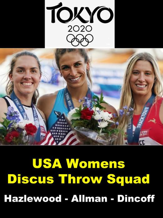 USA Womens Discus Throw Squad