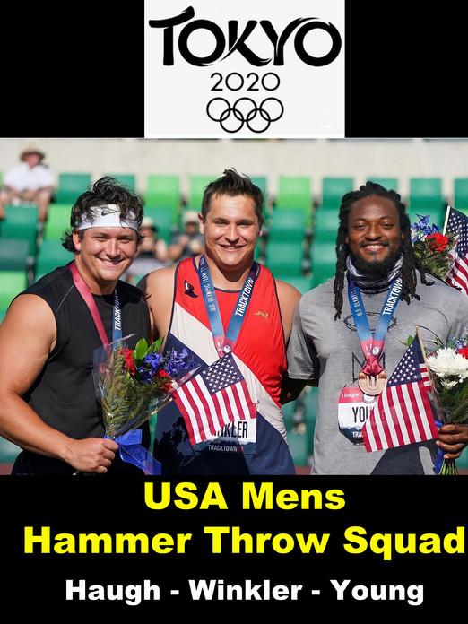 USA Mens Hammer Throw Squad