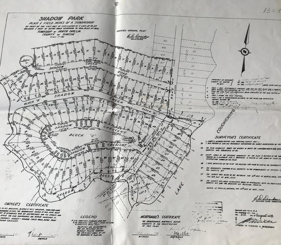 Shadow Park subdivision plan