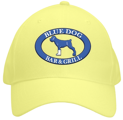 Blue Dog Hat -  Yellow
