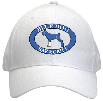 Blue Dog Hat - White