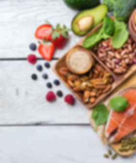 Selection of healthy food for heart, lif