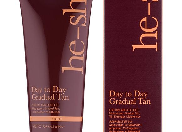 Day to day gradual tan