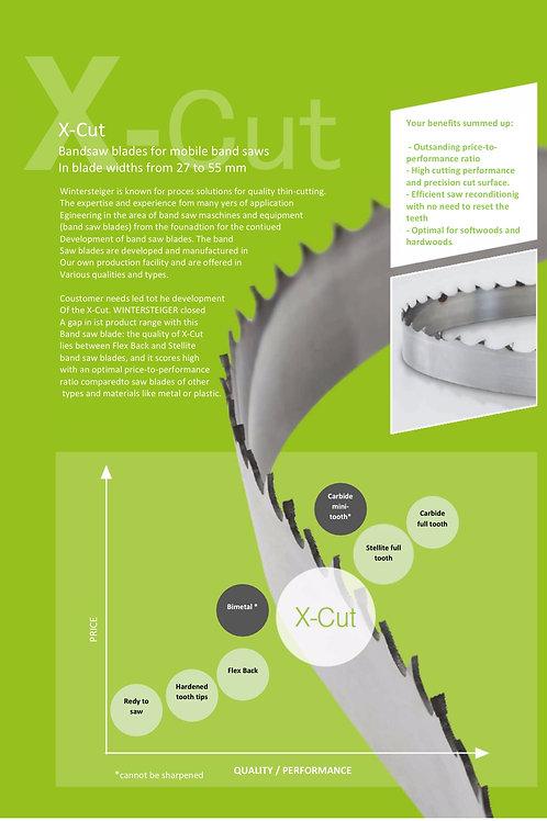 X-cut båndsavsklinge 404 mm x 35 mm x 1,2 mm.