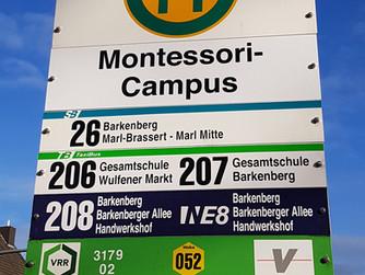 Neue Haltestelle: Montessori-Campus
