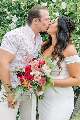 Maryland Tropical Backyard Wedding