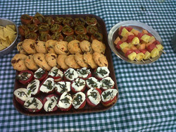 Bruchettas et cookies italien