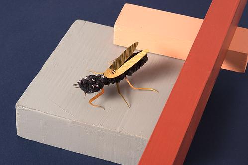 Crystal Praying Mantis Brooch