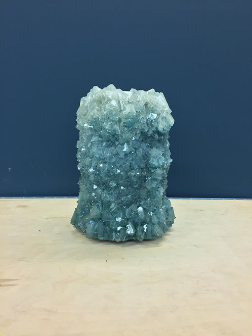 Crystal Vase Teal Large