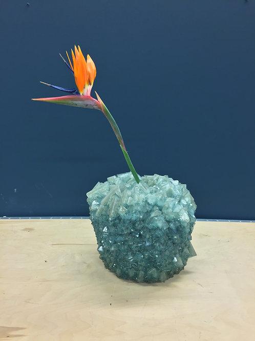 Crystal Vase Teal Medium