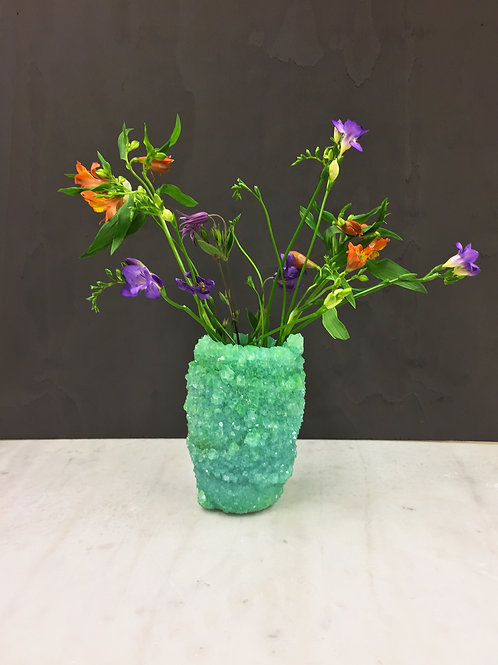 Crystal Vase Green
