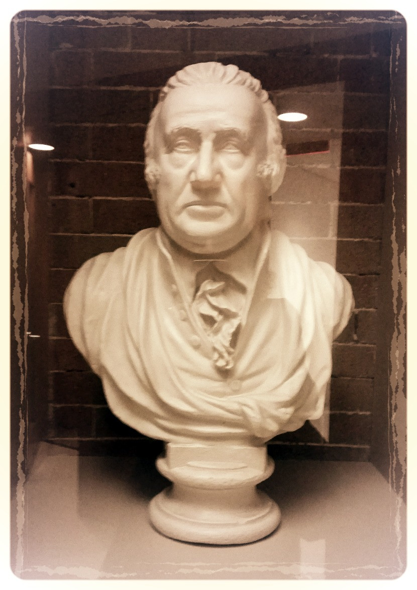 Bust of Caspar Wistar (the younger) by William Rush c 1812 at the Wistar Institute
