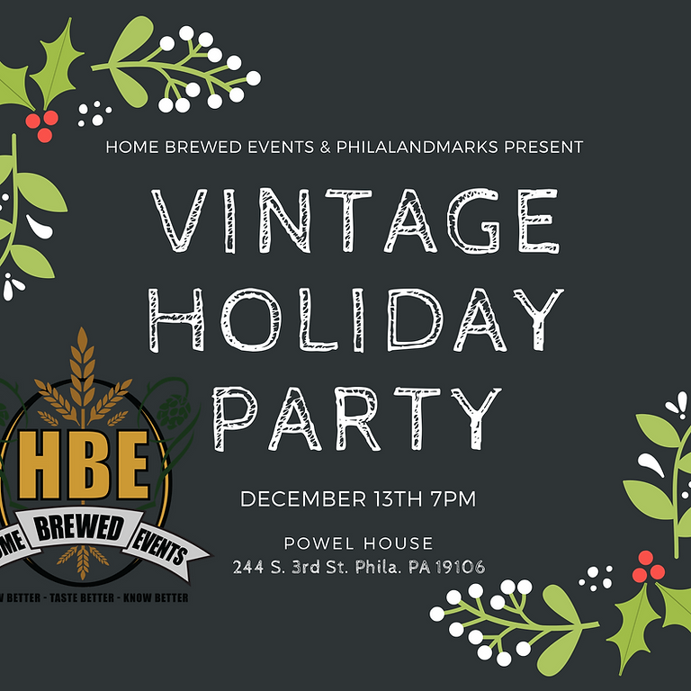 A Vintage Holiday Party: Home Brewed Events