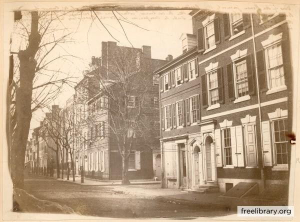 4th and Prune Street (now Spruce) in 1859, where Caspar Wistar entertained many curious minds