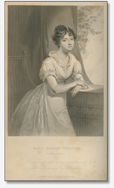 """The young Sophia Chew (Peggy's sister) representative of all the """"constellation of beauties"""" in this little society. Source: Rufus W. Griswold, The Republican Court, or, American Society in the Days of Washington. New and rev. ed. (New York, 1856), plate opposite 231. First ed., 1855."""