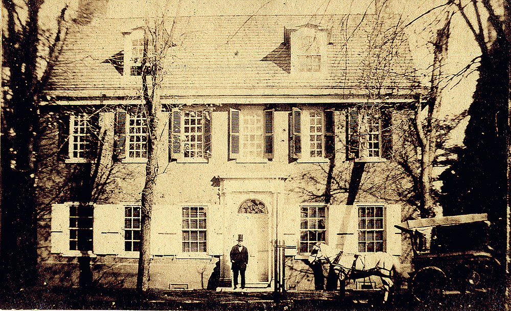 Grumblethorpe during Charles Jones Wister's time. Photo courtesy American Philosophical Society, Eastwick Collection, taken by C.J. Wister, Jr. 1843