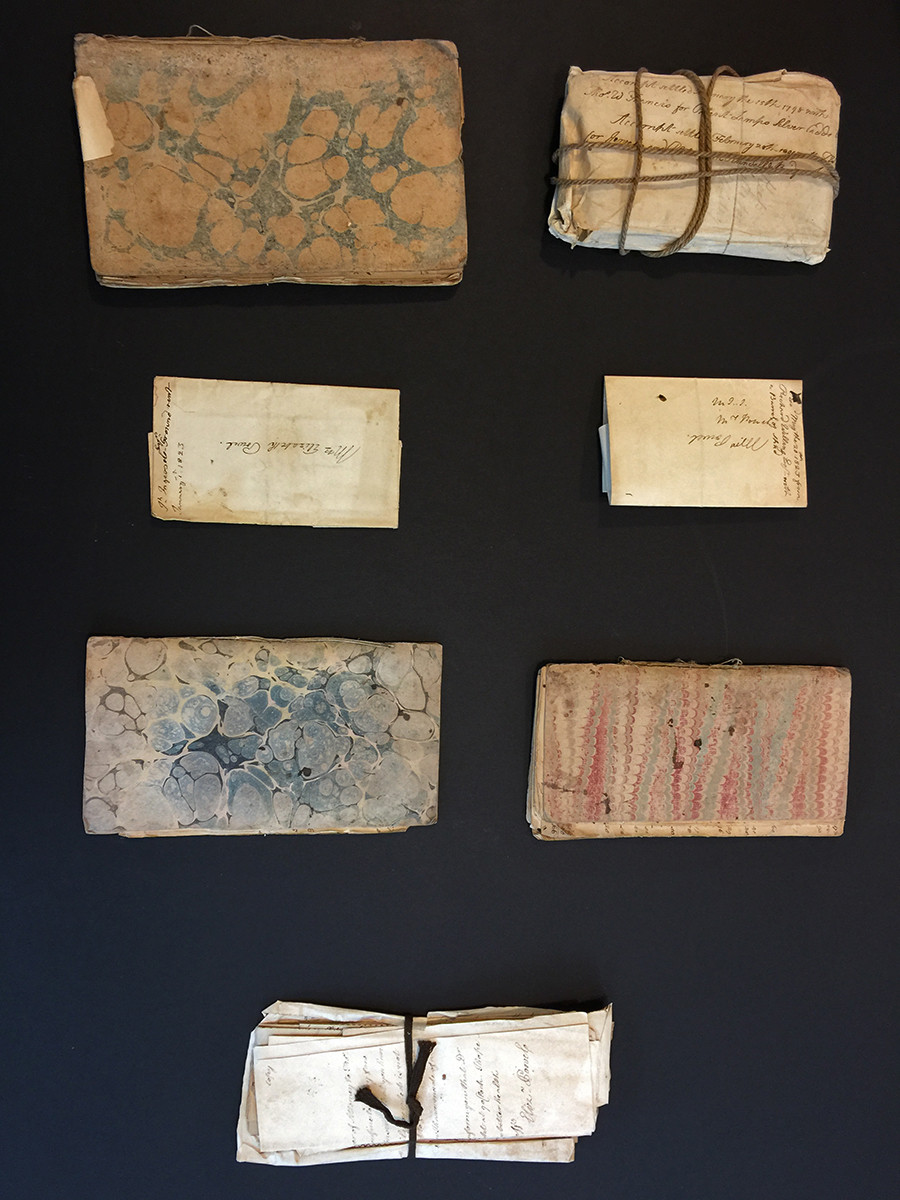 Account books and receipts once kept by Elizabeth Willing Powel