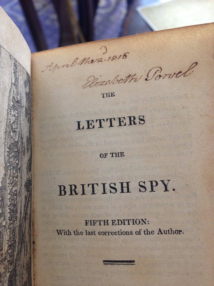 Eliza Powel's copy of The Letters of The British Spy