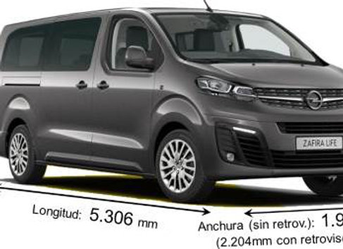 Aislante térmico 9 capas Opel Zafira Life 2019 LARGA