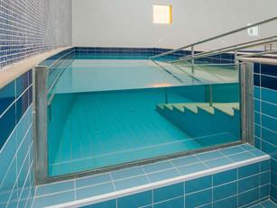 Visor de vidro para piscina de Hidroterapia