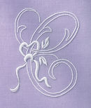Embroidery Kit -  Handkerchief - Lavende