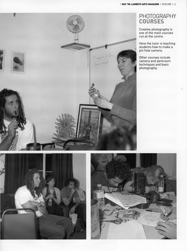 Zoom In Photography – Lambeth Arts Magazine 2005