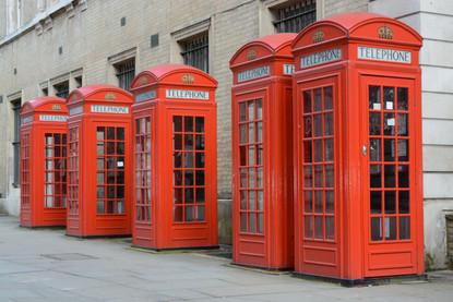 Telephone Boxes, Landscape, London, 2014