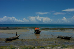 Zanzibar beach, fishing boats, 2008