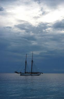 Zanzibar sunset sailing ship, 2008
