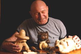 Chuck, sculptor, 2006