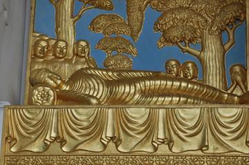 Sleeping Buddah, Peace Pagoda, Battersea Park
